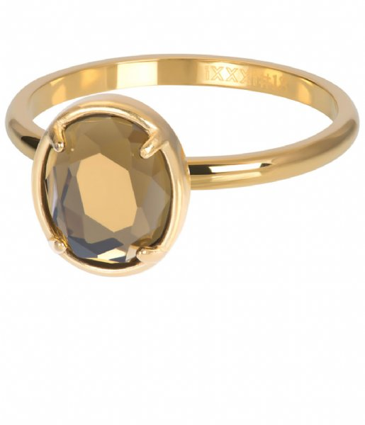iXXXi Ring Glam Oval Topaz Gold colored (01)