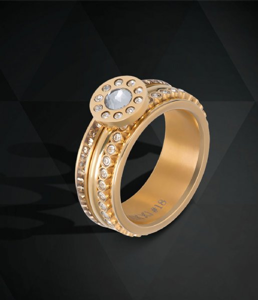 iXXXi Ring Smal Circle Stone Gold colored (01)