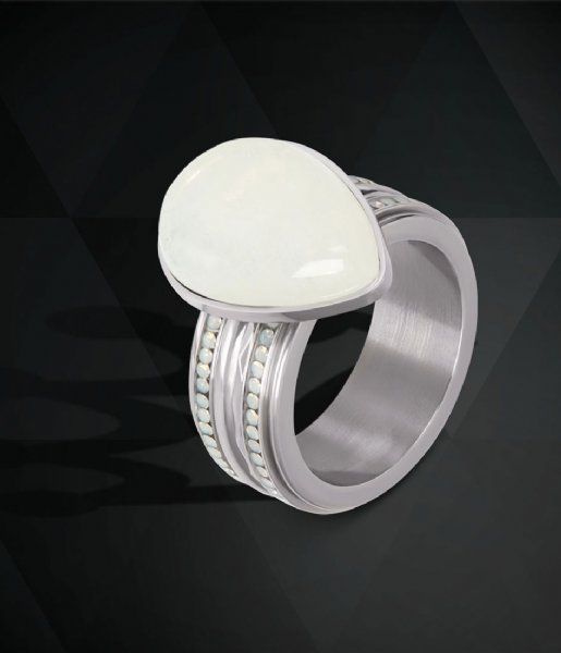 iXXXi Ring Hammerite Silver colored (03)