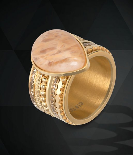 iXXXi Ring Flat circels Gold colored (01)