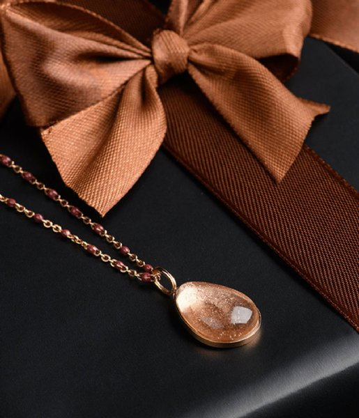 iXXXi Hanger Charm Royal Stone drop Champagne Rose colored