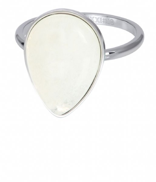 iXXXi Ring Royal Stone Drop White Silver colored (03)