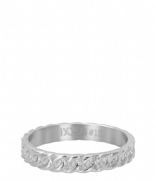iXXXi Ring Curb chain Silver colored (03)