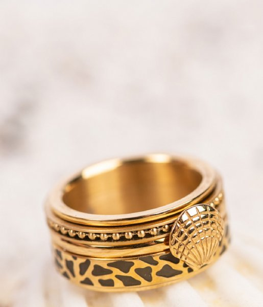 iXXXi Ring Symbol sea shell Gold colored (01)