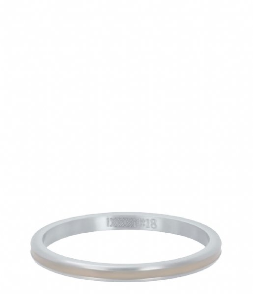 iXXXi Ring Line beige Silver colored (03)