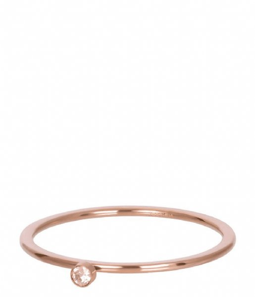 iXXXi Ring Pink 1 stone crystal Rosé colored (02)