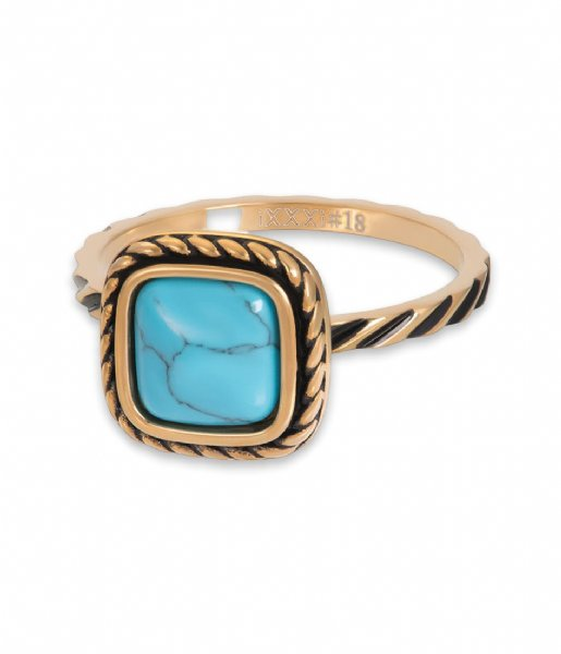 iXXXi Ring Summer Turquoise Gold colored (01)