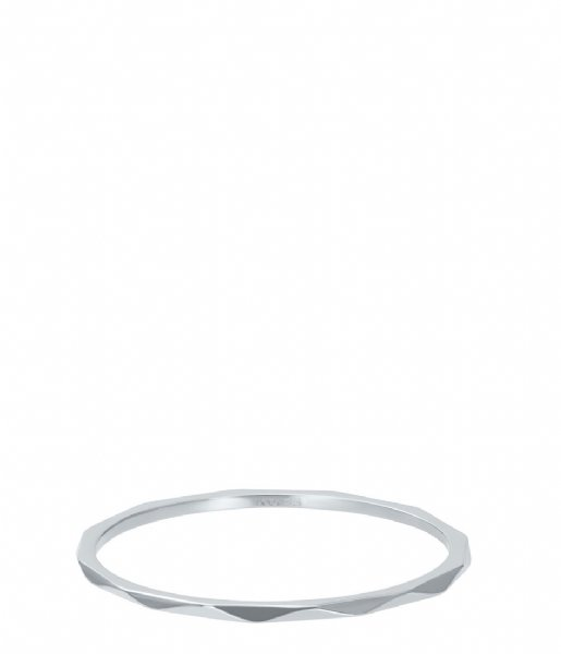 iXXXi Ring Wave Silver colored (03)
