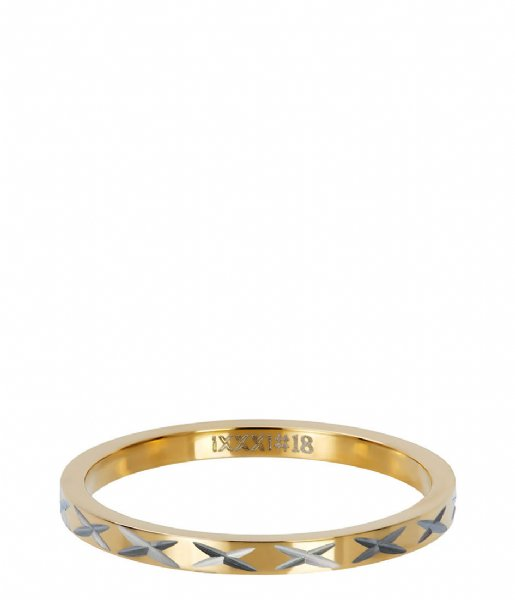 iXXXi Ring X Row Gold colored (01)