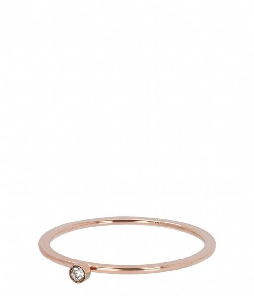 iXXXi Ring Zirconia 1 stone crystal Rosé colored (02)
