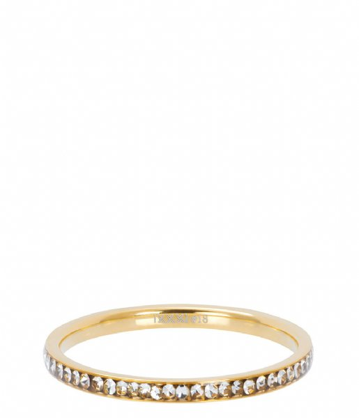 iXXXi Ring Zirconia crystal Gold colored (01)