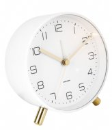 Karlsson Alarm clock Lofty metal matt D. 11cm White (KA5752WH)