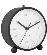 Karlsson Alarm clock Pellet Feet matt Black (KA5787BK)