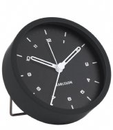 Karlsson Alarm clock Tinge steel Black (KA5806BK)