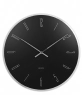 Karlsson Wall Clock Mirror Numbers Glass Black (KA5800BK)