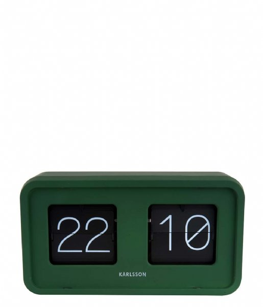 Karlsson Tafelklok Table clock Bold Flip matt green (KA5712GR)