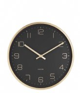 Karlsson Wall clock Design Armando Breeveld elegance black (KA5720BK)