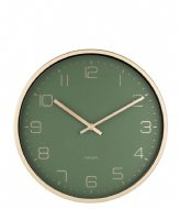 Karlsson Wall clock Design Armando Breeveld elegance green (KA5720GR)