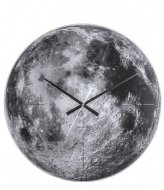 Karlsson Wall clock Moon mirror glass, silent movem. Grey (KA5475)