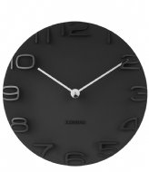 Karlsson Wall clock On The Edge w. chrome hands Black (KA5311BK)