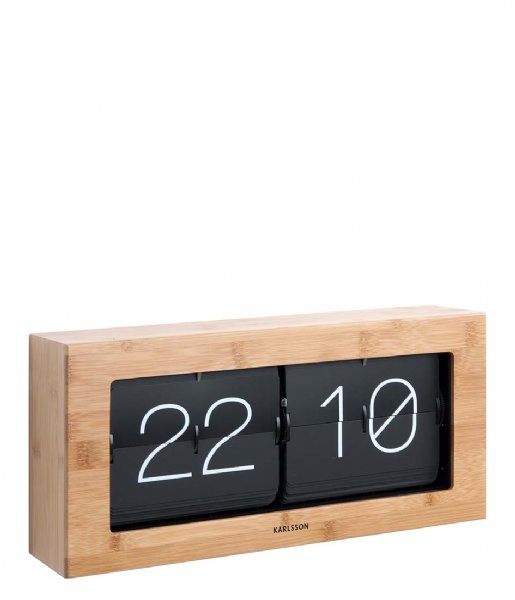 Karlsson Wandklok Wall / Table clock Boxed Flip XL bamboo (KA5642WD)