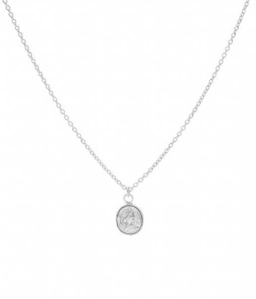 Karma Ketting Karma Necklace Coin Zilver (T35)