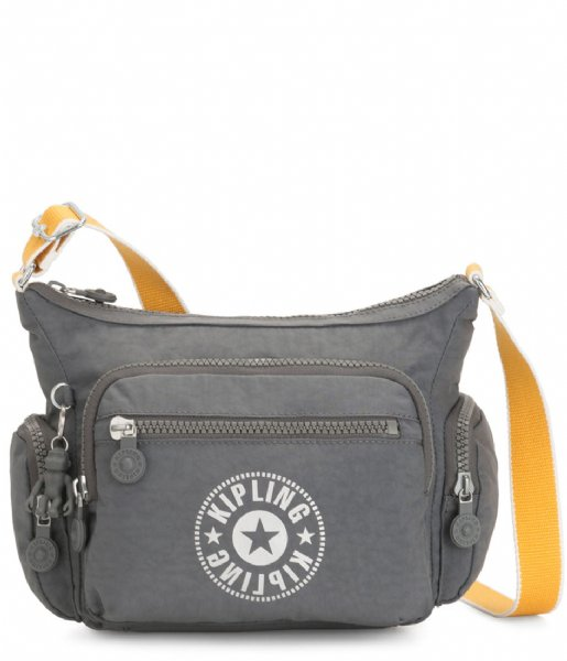 Kipling Crossbodytas Gabbie Small Crossbody Dark Carbon Yellow (KPKI263249X1)