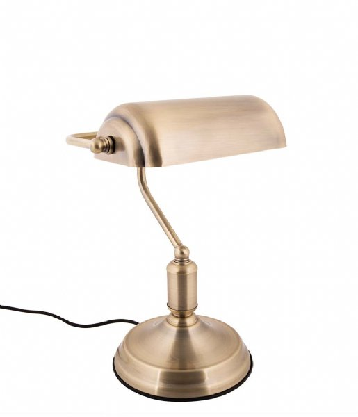 Leitmotiv Tafellamp Table lamp Bank iron antique gold plated (LM1890GD)