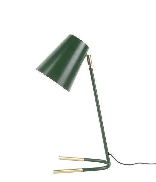 Leitmotiv Tafellamp Table lamp Noble metal dark green with gold colored accentas (LM1754)