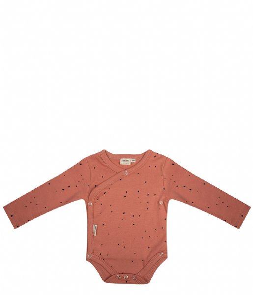 Little Indians Babykleding Onesie Longsleeve Dots Canyon Clay (ONLS08-CC)