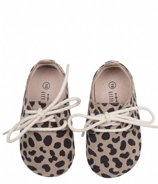 Little Indians Sneakers Bootie Oxford Leopard Big Taupe