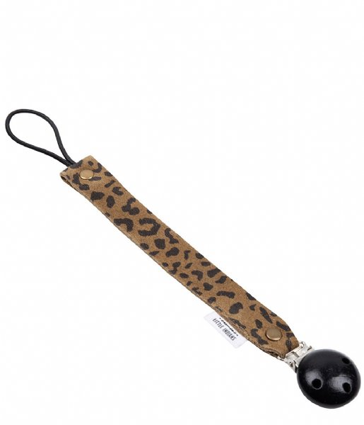 Little Indians Baby Accessoire Pacifier Clip Leopard Small Green
