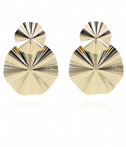 LOTT Gioielli Oorbellen Classic Earring Curved Gold plated