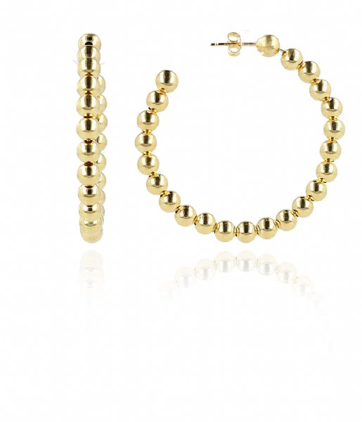 LOTT Gioielli Oorbellen CL Creole ball 6 large Gold Gold plated