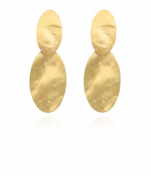 LOTT Gioielli Oorbellen CL Earring oval closed Small Gold Gold plated