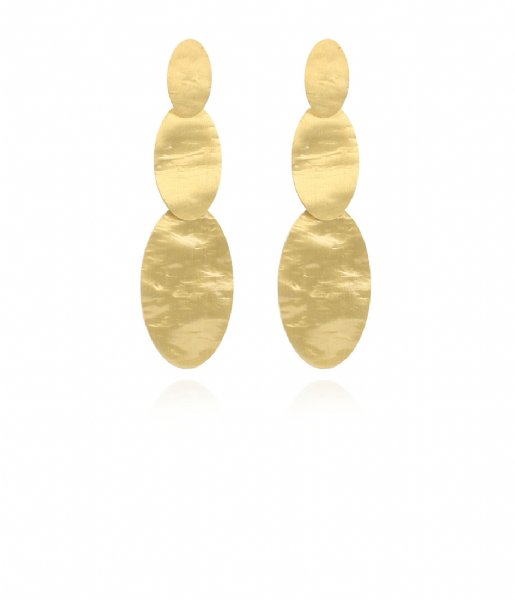 LOTT Gioielli Oorbellen CL Earring oval double closed Gold Gold plated