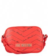 LOVE MOSCHINO Borsa Small Grain rosso KH0500Q3-20