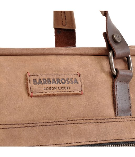 Barbarossa Laptop schoudertas 826-160 Ruvido 15.6 inch Coffee