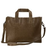 MYOMY Mini Handbag Cross-body Anaconda Taupe