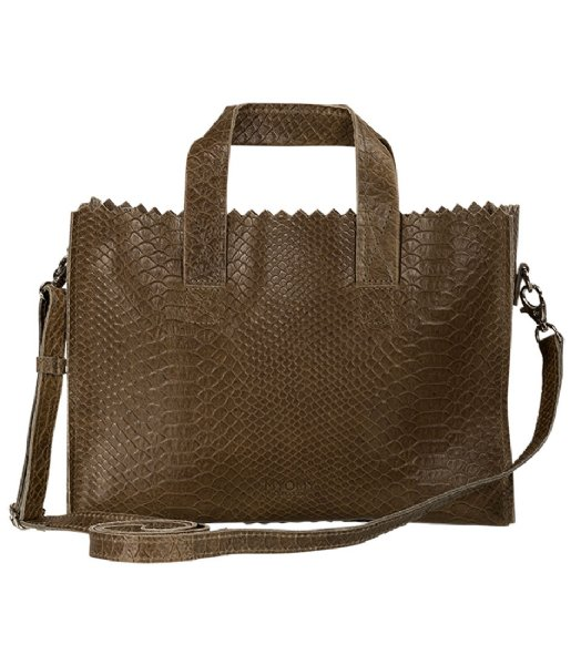 MYOMY Crossbodytas Mini Handbag Cross-body Anaconda Taupe