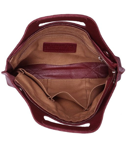 MYOMY Handtas MYOMY MY CARRY BAG Mini Hunter Waxy Burgundy