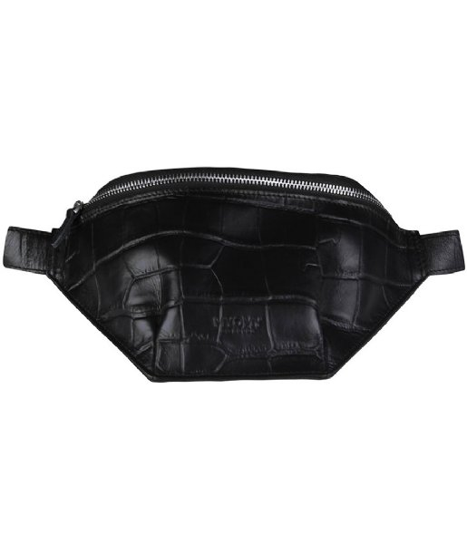MYOMY Heuptas Belt bag Croco Black / Recycled Plastic