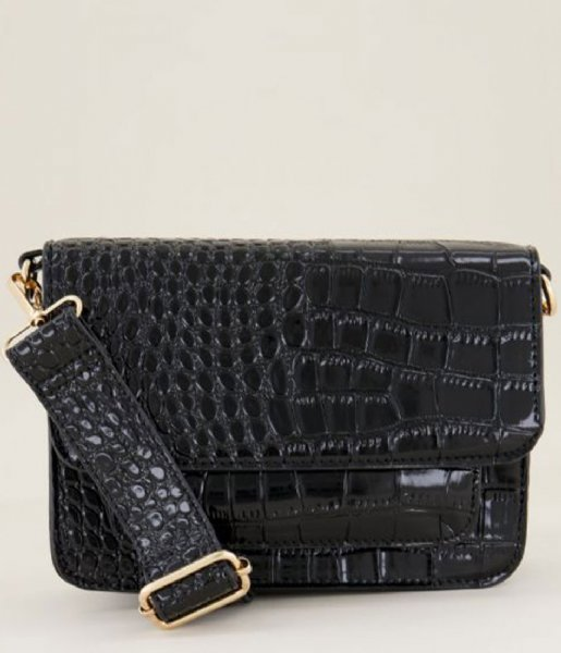 My Jewellery Crossbodytas Schoudertas croco print Zwart (1100)