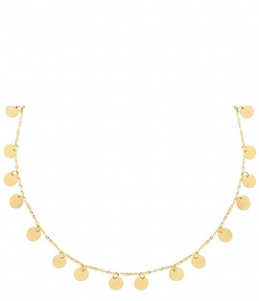 My Jewellery Ketting Long Coin Necklace gold colored (1200)