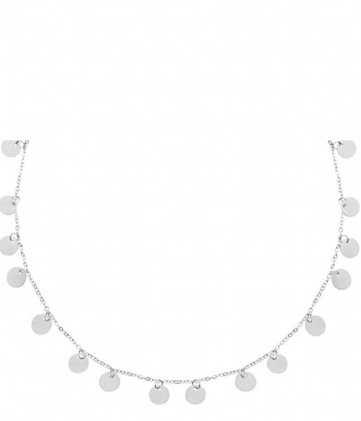 My Jewellery Ketting Long Coin Necklace silver colored (1500)