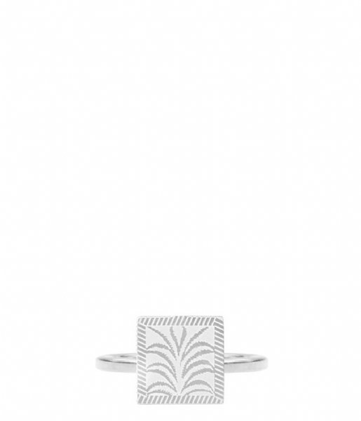 My Jewellery Ring Charm Ring Plant silver colored (1500)