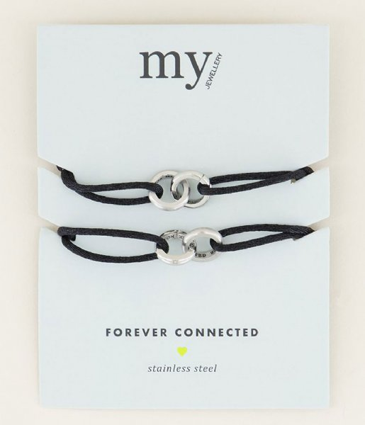 My Jewellery Armband  Forever Connected Armband Zwart silver colored (1500)