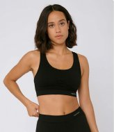 Organic Basics SilverTech Active Workout Bra black