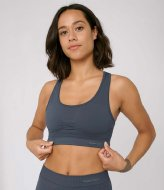 Organic Basics SilverTech Active Workout Bra sea blue