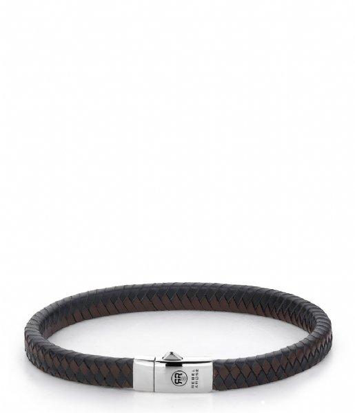 Rebel and Rose Armband Small Braided Black-Earth Zwart/Bruin